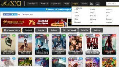 Tampilan Situs Download dan Streaming Film Online, xxi