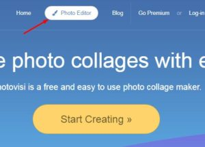 tampilan utama situs photovisi.com