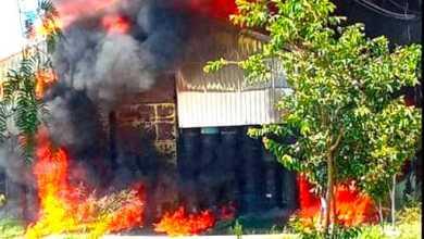Photo of Fuego y pánico en unabodega de Celaya
