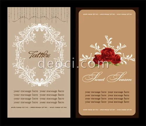Elegant Wedding Invitation Card Brochure Design Template Material Eps Vector