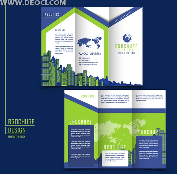 Advertising brochure design templates ai download deoci for Templates for brochures free download
