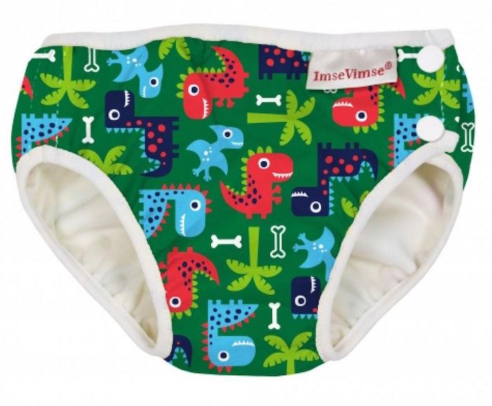 Imse Vimse Zwemluier Wasbaar Groene Dinosauriers S 6-8kg