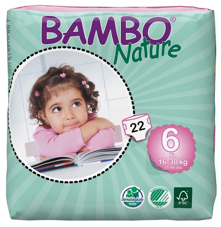 Bambo Nature Luiers 6 XL 16-30kg