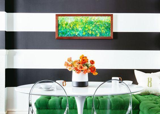 Decoración de interiores: Cómo usar las líneas en tus paredes.