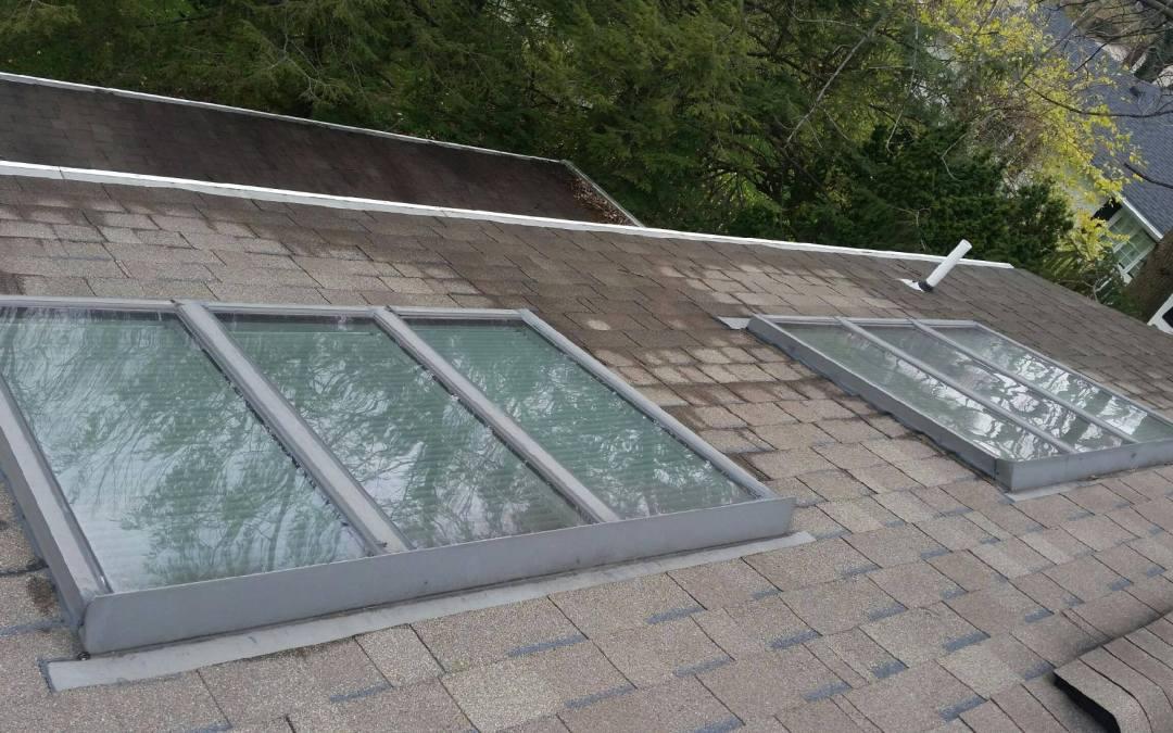 Repairing a leaking skylight