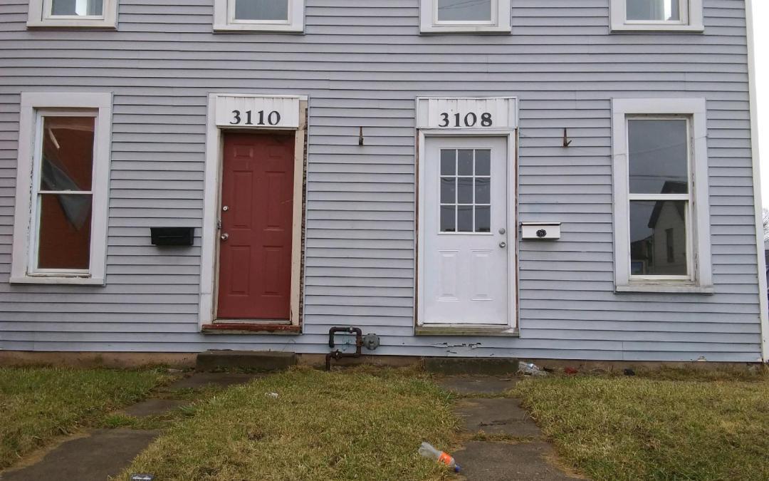 Front doors.