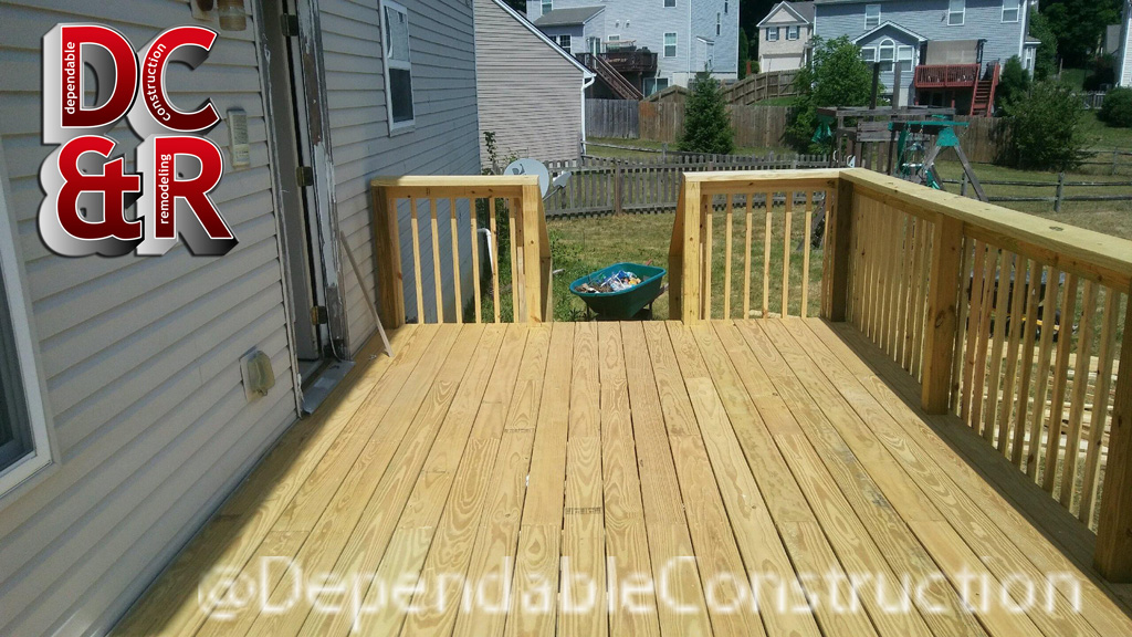 Top view of Fairborn deck