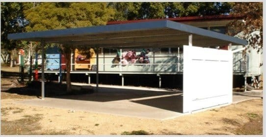 6 x 6 meter flat skillion roof carport