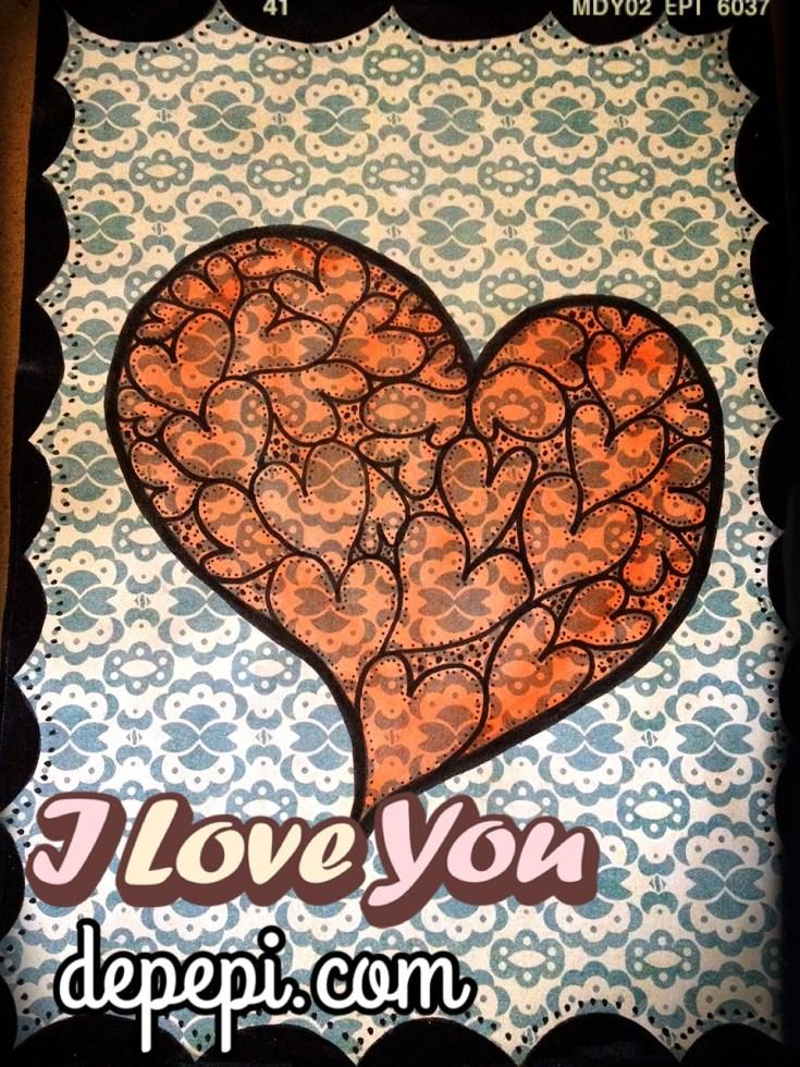 depepi, depepi.com, mixed media, mixed media art, journaling, doodle, healing, love, valentine, cute, kawaii, valentine, be my valentine