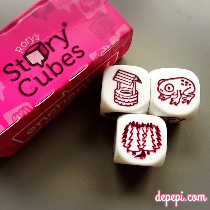 story cubes, story cubes prompts, writing prompts, blogging prompts, depepi, depepi.com