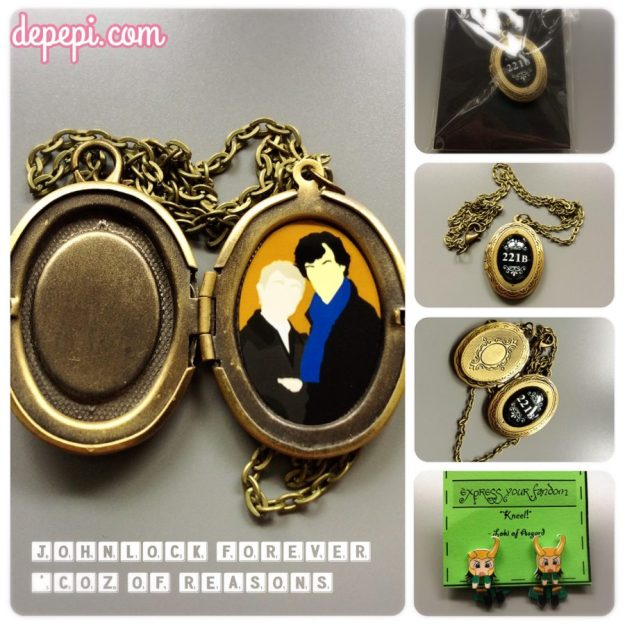 geek girls x bloggers, spring gift exchange, geek bloggers, geek girl bloggers, depepi, depepi.com, sherlock, johnlock