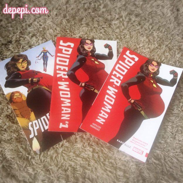 spider-woman, spider-woman baby talk, spider-woman pregnant, marvel, marvel comics, depepi, depepi.com