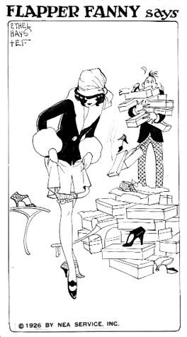 ethel hays, flapper, flapper girl, comics, history of comics, depepi, depepi.com