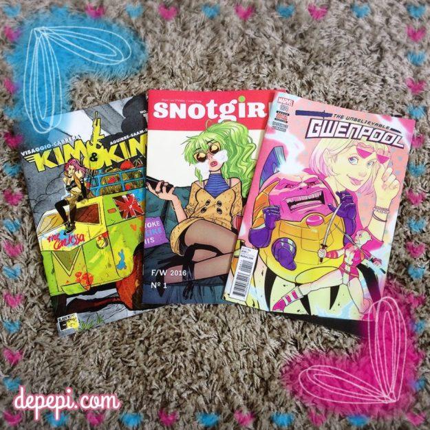 comics, comics thorsday, thorsday, kim & kim, snot girl, gweenpool, depepi, depepi.com