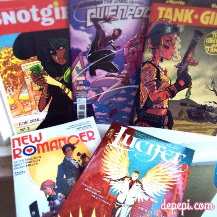 comic book pull list, comics pull list, snotgirl, gwenpool, tank girl, lucifer, depepi, depepi.com