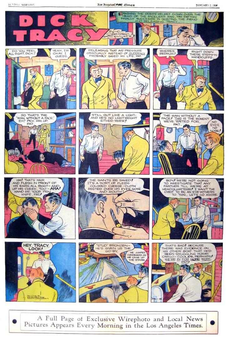 Dick Tracy, history of comics, comics in the us, depepi, depepi.com