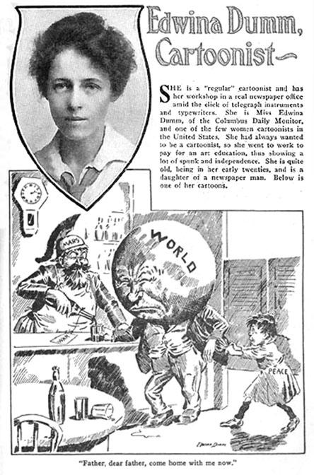 edwina dumm, history of comics, comics in the us, depepi, depepi.com