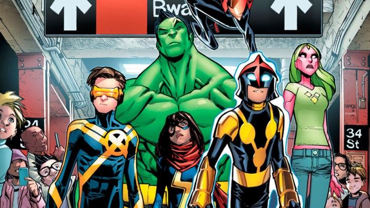 champions, ms. marvel, nova, hulk, spider-man, marvel, marvel, comics, comics thorsday, depepi, depepi.com