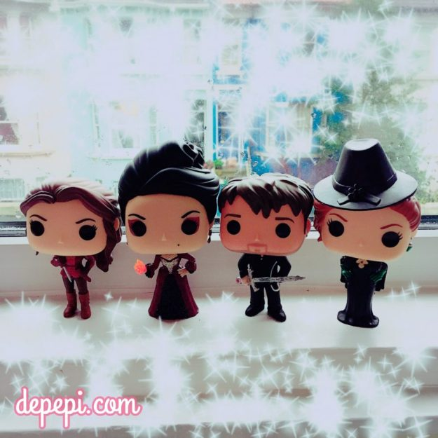 once upon a time, ouat, funko, funko friday, killian jones, captain hook, belle, zelena, evil queen, depepi, depepi.com