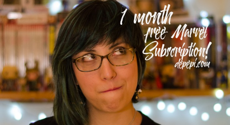 marvel, comics, 1 month free, marvel subscription, subscription, depepi