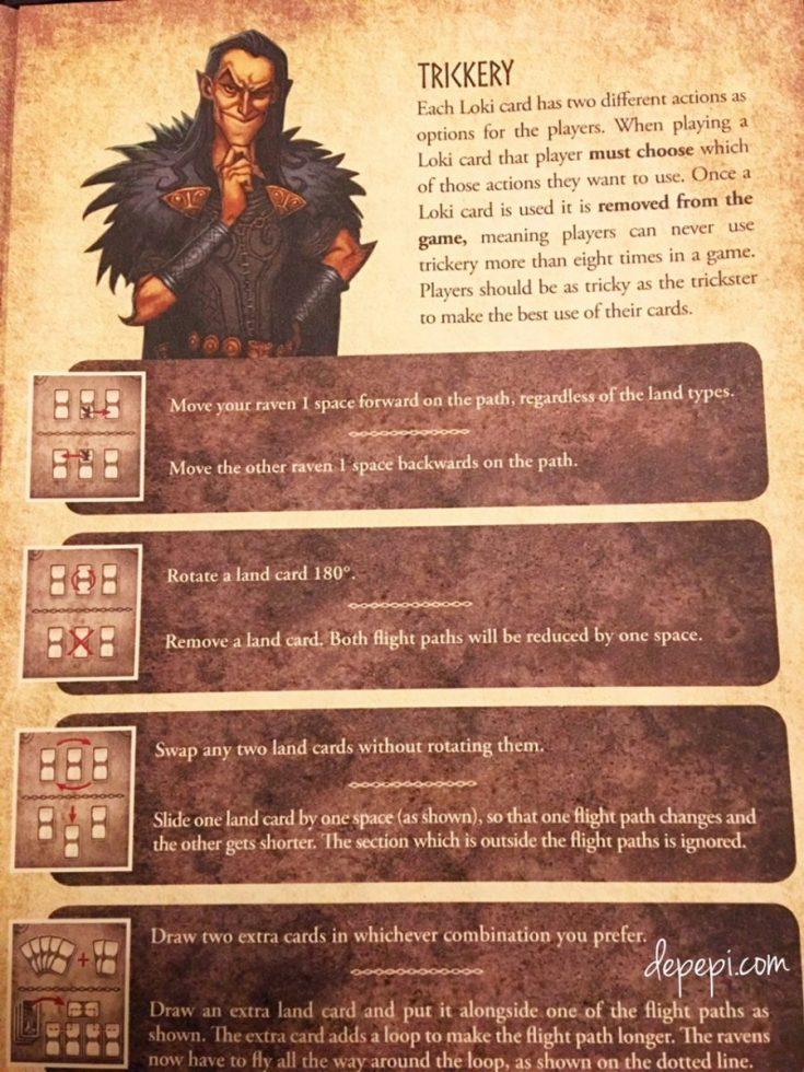Odin's Ravens, Loki, mythical race game for two players, thorsten gimmler, depepi, depepi.com, reviews