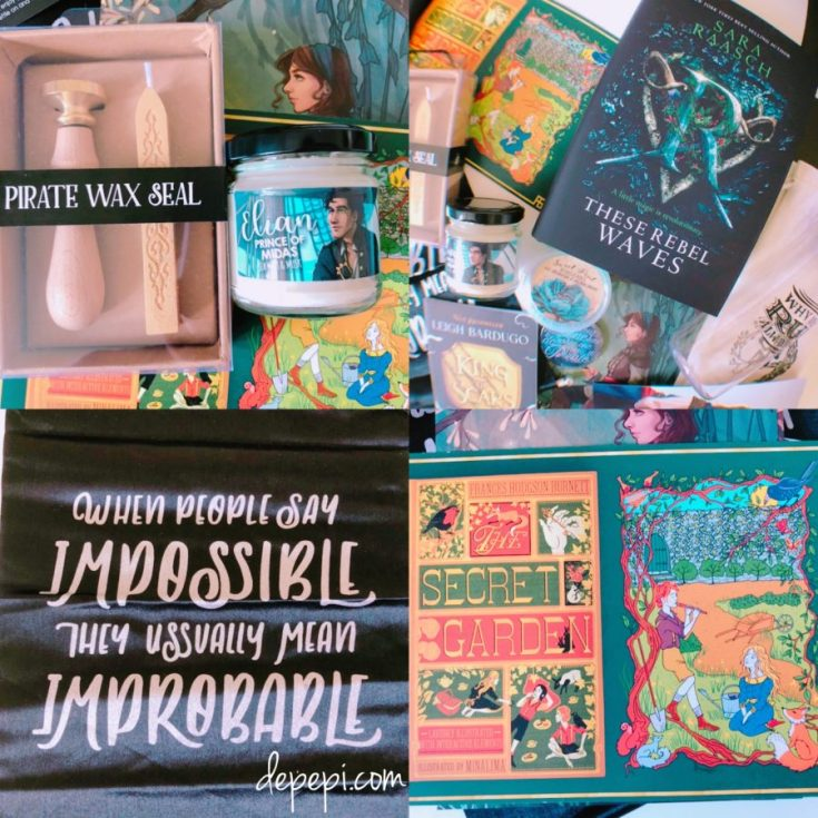 fairy loot, fairyloot, unboxing, pirates, mutinous pirates, Captain Hook, Nikolai lantsov, Grisha Trilogy, depepi, depepi.com, bookworm