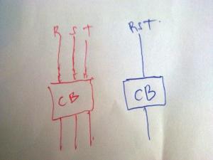 gambar single line diagram