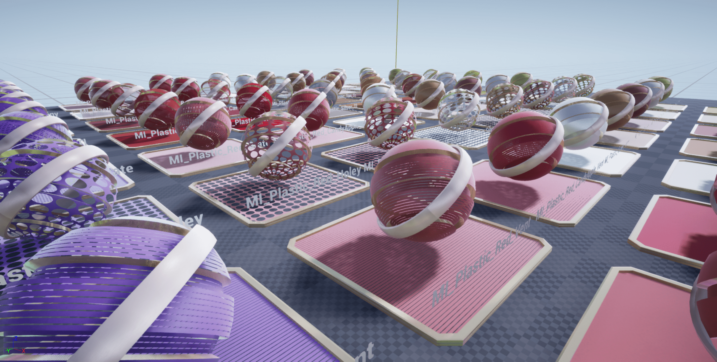 Parametrized Plastics Materials Pack for Unreal Engine 4