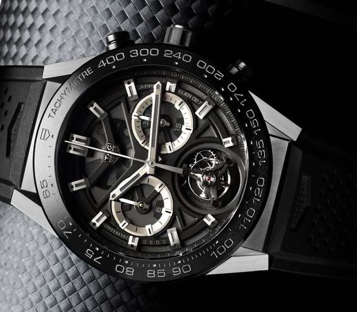 TAG Heuer CARRERA Heuer-02T. New automatic, chronograph with tourbillon.
