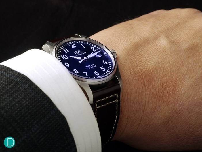 """The IWC Pilot's Watch Mark XVIII. This particular one is the """"Le Petit Prince"""" edition."""