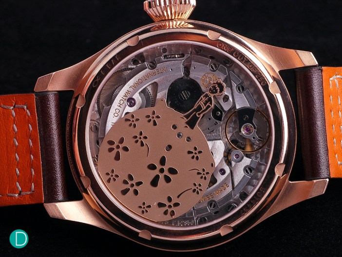 The IWC C.52850 with the rotor depicting the little prince standing on his planet.