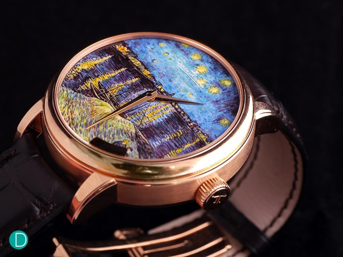 On Daniel Riedo's wrist: the Jaeger LeCoultre Master Grande Tradition Minute Repeater Starry Night over the Rhone.