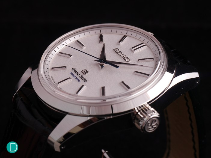 Grand Seiko SBGD001 in platinum. 43mm in diameter, crafted in a proprietary platinum which allows a high gloss polish, and a magnificent spring drive handwound movement.