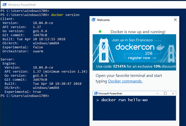 New Docker For Windows Edge Build Number 18 04 - Deploy Containers