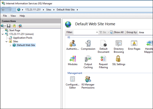 Connect to a Windows Container Using IIS Management Console - Deploy