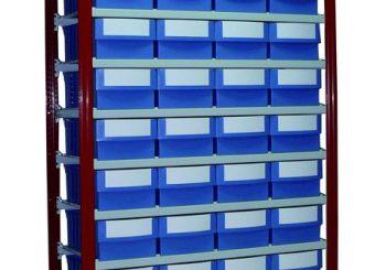 EP 50- Sistem de rafturi metalice pentru cutii de plastic cu deschidere frontală