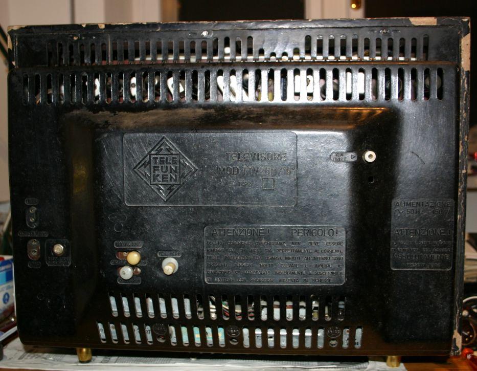 """TV Telefunken TTV26M/19"""" - pannello posteriore"""