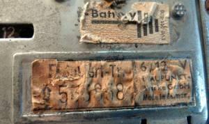 Blaupunkt Frankfurt TR - etichetta identificativa