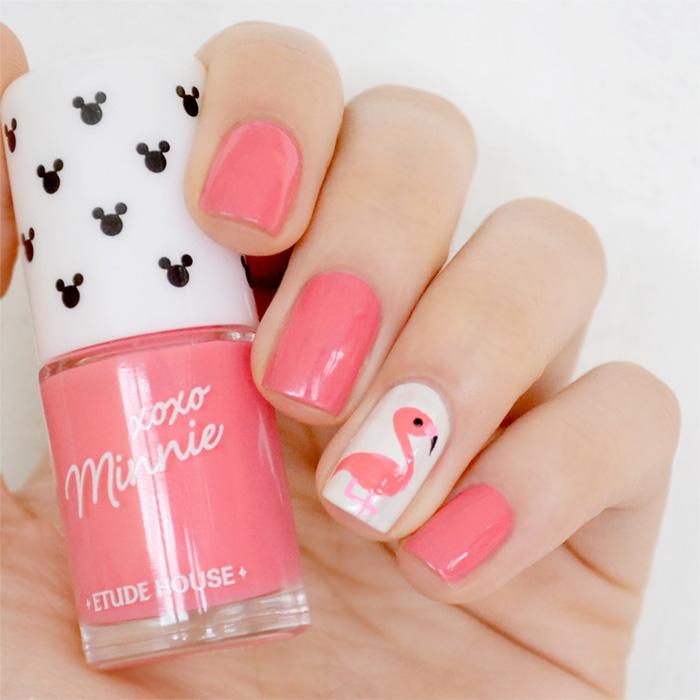 nail-art-flamingo