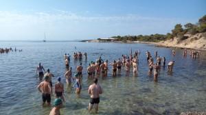 Playa de S'estalella (Llucmajor-Mallorca) momentos previos