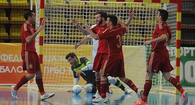 Los jugadores de la Selección Española celebran un gol ante Suiza