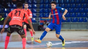 Diego Quintela, con el F.C. Barcelona Lassa 2