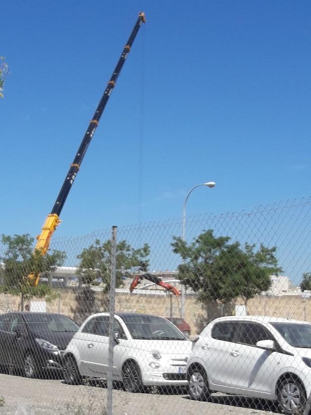 colocación de las torres de ilumiación (1)