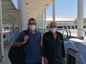 Pepe Laso y Kike Fernández a su llegada a palma 2