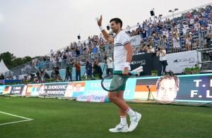 Djokovic show match 180621