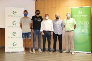 Renzo Cairús, Abel Bernal, Jaume Fornés, Carlos García y Carlos Moyà posan juntos tras presentar el acuerdo