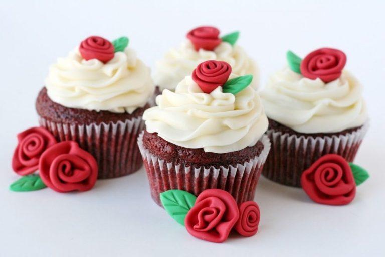 cupcakes con rosas