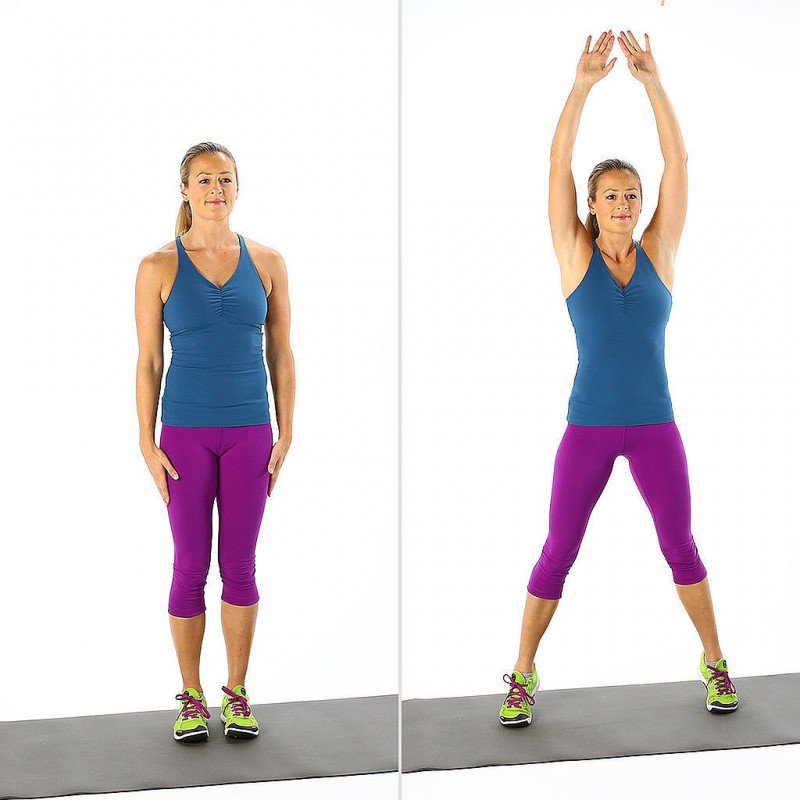 Jumping jacks para reducir cintura