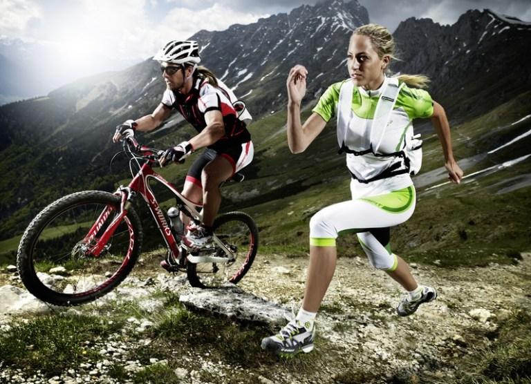 combinar la bicicleta con correr
