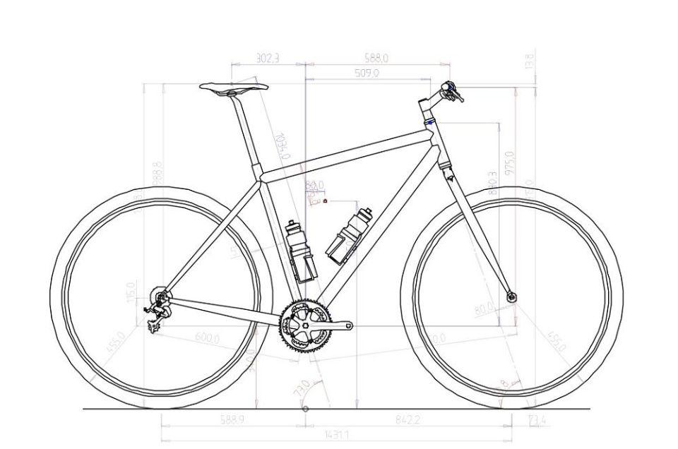 obtener medidas de la bicicleta